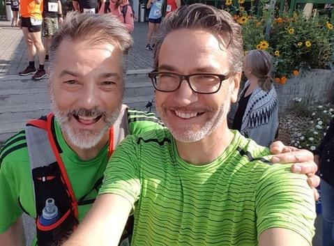 Läufer am Belchen Berglauf