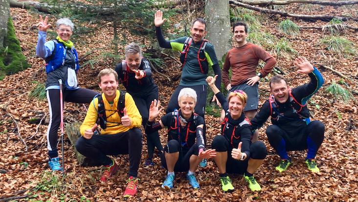 Gruppenfoto der Teilnehmer am Trailrun