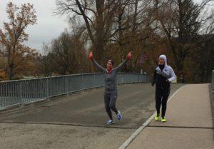 Schnupperduathon, Rookie Projekt, Föderung Duathlon, Breitensport, im Ziel angekommen glücklich