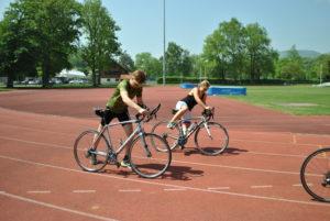 crossfirecoaching Koppeltraining mir Nina Brenn, wie springe ich aufs Rad