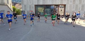 crossfirecoaching, aarau Altstadtlauf 2018 Einlaufen im Team