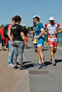 crossfirecoaching, Ironman Vichy, Lauf erste Runde Nadine W.