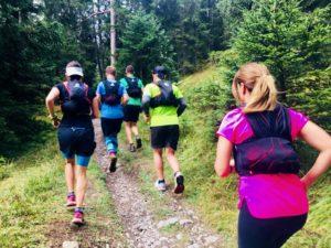 Trailrunning in Flims mit Nina Brenn, Skinfit, Gruppe